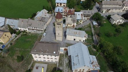 Village de Faucon, vallée de l'Ubaye, Alpes de Haute Provence