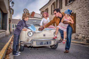 Photographie évènementielle sur un Concours d'élégance de vieilles Automobiles françaises